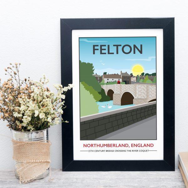 Vintage Style Felton Travel Poster