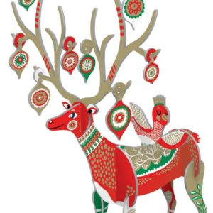 Folksy Reindeer Pop and Slot