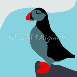 Framed Puffin Print