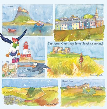 Set of Northumberland Christmas Cards