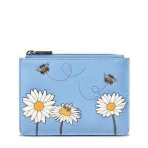 Bee Happy Leather Zipped Purse