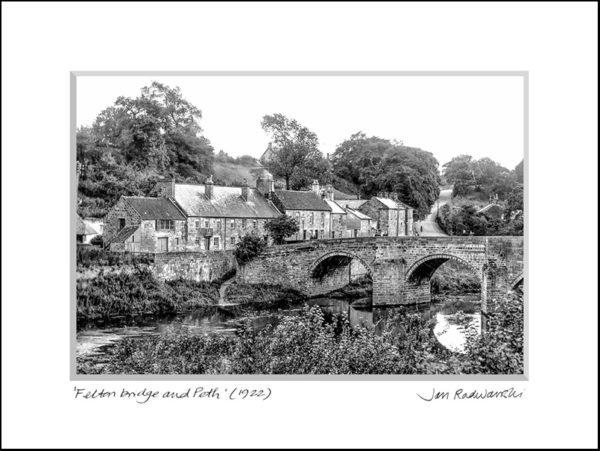 Photographic Print Felton Bridge