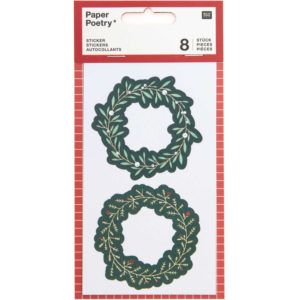 Paper Poetry Wreath Stickers