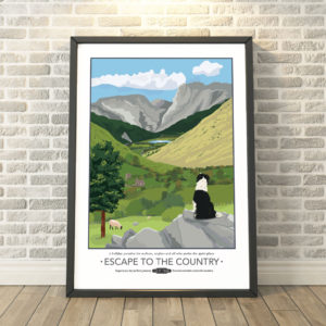 Escape to the Countryside Print