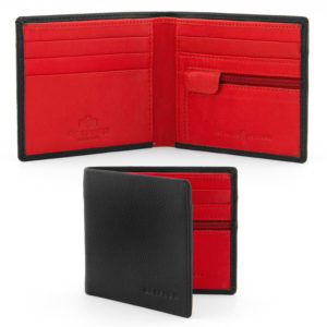 Black & Red Leather Wallet