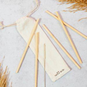 Bamboo Straw Set of 6