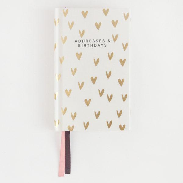 Scattered Hearts Address Book by Caroline Gardner