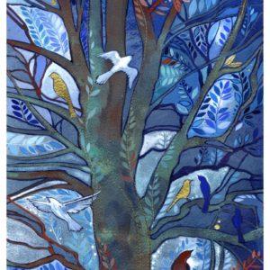 Roosting Print by Kate Lycett