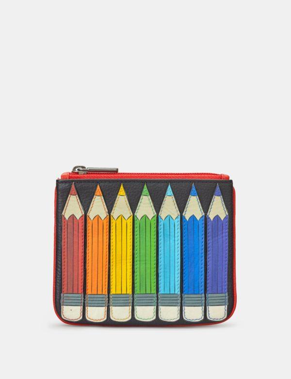 Pencils zip top purse