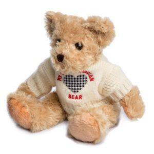 Northumberland tartan teddy bear