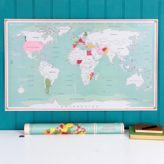 Rex Scratch World Map